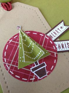 pennant parade, petite pennant builder punch, Stampin' Up, tag