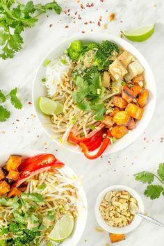 Thai Buddha Bowl with Tofu & Peanut Sauce