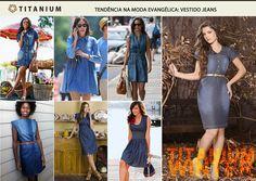 Os vestidos jeans do inverno 2013 seguem a tendência das lavagens escuras. Veja algumas inspirações para da Titanium Jeans e confira um dos nossos lançamentos.