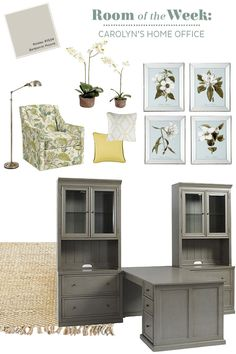 Our Tuscan Return Group makes the most of a home office with plenty of storage, a two sided desk, and pretty art piece.