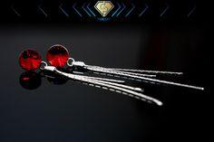 Swarovski silver earrings. Siam red color. Swarovski Jewelry, Red Color, Silver Earrings, Jewellery, Jewels, Schmuck, Jewelry Shop, Jewlery, Jewelery