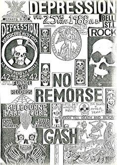 Depression, No Remorse, GASH Flier