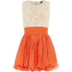 Orange frill top dress ($89) via Polyvore