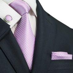 Pink and White Necktie Set JPM82N – Toramon Necktie Company