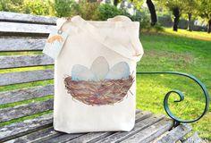 Bird Nest Fair Bag Reusable Shopper Bag Cotton Tote Ethically Produced Shopping Bag Eco Tote Bag Reusable Grocery Bag by ceridwenDESIGN http://ift.tt/2eTwB8c