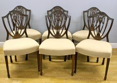 A Set Of 6 Adam Style Mahogany Dining Chairs - Antiques Atlas