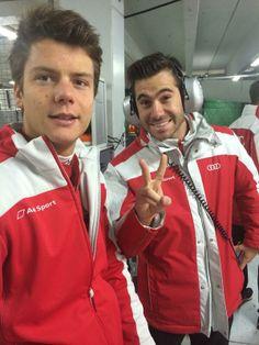Adrien Tambay and Miguel Molina #DTM #Testing #Hockenheim 2014 :)