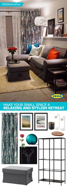 Make your small space a relaxing and stylish retreat with help from the IKEA Home Tour Squad. In their latest makeover, the Squad transformed a young couple's master bedroom by creating a space for the two to spend time alone that was stylish and practical.