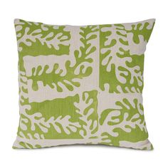 Sealeaf cushion in Leaf Green - a lovely fresh green. Our favourite design, inspired by Matisse cutouts and seaweed of the Cornish coast and hand printed in Cornwall onto a linen/cotton mix. Matisse Cutouts, Green Cushions, Printed Cushions, Soft Furnishings, Cornish Coast, Leaves, Throw Pillows, Fresh Green, Seaweed