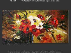 """Thanks For All The Joy"" - Original Flower Paintings by Lena Karpinsky, http://www.artbylena.com/original-painting/20966/thanks-for-all-the-joy.html"