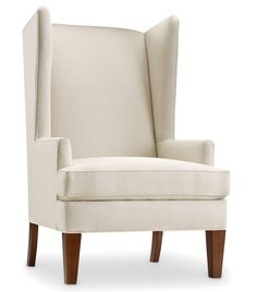 The Alexander is an updated wing chair that offers a bit of privacy as well as head support. With a modified seat and high arms it features a tight back, which makes ingress and egress simple. Available with a removable seat deck or sinuous spring seat option. Choice of 11 finishes and 2 nail head options.