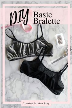 DIY bralette sewing pattern instant download. This easy pdf comes with both video and photo tutorials. Make it out of lace, mesh, or any stretch fabric for a great beginner sewing tutorial to use the scraps of fabric in your stash! #sew #pdfpatterns #sewingpattern