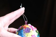 using paper clip as hanger for homemade christmas ornament