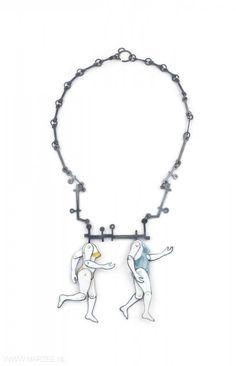 Tabea Reulecke - necklace, 2010, silver, enamel on copper