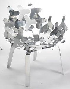 by Philippe Bestenheider. @Deidra Brocké Wallace.silla plateado partes laminares -- outdoor ok?