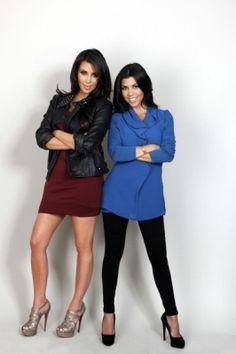 Kim and Kourtney Kardashian.