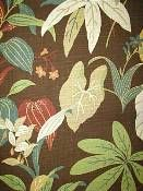 Tropical Floral Outdoor Fabric - Costa Rica Mocha - more traditional patio?