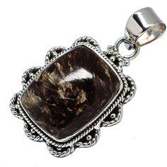 """Golden Seraphinite 925 Sterling Silver Pendant 1 1/2"""" PD554845"""