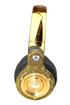 rogeriodemetrio.com: Diamond Gold Crystallized Headset Swarovski Elemen...