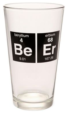 Periodic BeEr Glass from ThinkGeek on shop.CatalogSpree.com, your personal digital mall.