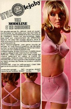 1960s Lejaby underwear advertisement. I'm fascinated by those pointy bras women wore back in the day.