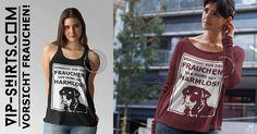 Neues T-Shirt – Design für Damen ★ VORSICHT VOR DEM FRAUCHEN ★ 716 - 1W  Egal ob Tanktop oder T-Shirt, jedes Teil nur 19,95€!  #hund #dog #labrador #frauchen #herrchen #love #bekleidung #design #tshirts #shirt