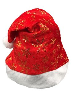 0bfc4a6034fb9 Novelty Snowflake Pattern Christmas Hat - Lava Red
