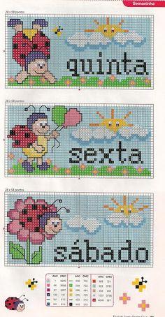 Cross Stitch Baby, Cross Stitch Charts, Cross Stitch Patterns, Brother Innovis, Crochet Baby, Ladybug, Diy And Crafts, Kids Rugs, Embroidery