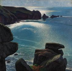 "Dame Laura Knight (1877-1970) ~  ""Logan's Rock, Cornwall"" ~ Oil on Canvas c.1916 Knight, Cavalier, Knights"
