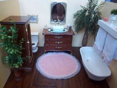 EXTREMELY CUTE bathroom furniture for barbie size dolls - Like the towels