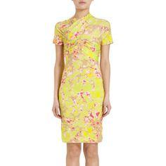 Great for spring. Carven Floral Print Dress.