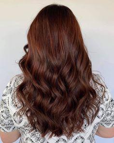 Dark Auburn Wavy Hair