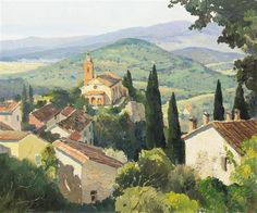 """""""Magagnosc, Provence,"""" Anthony Thieme, oil on canvas, 30 x 36"""", private collection."""