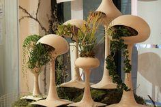 Mod  Planters - urban green cool http://www.tendingtoit.com