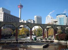 Downtown Calgary from Olympic Plaza, Alberta, Canada