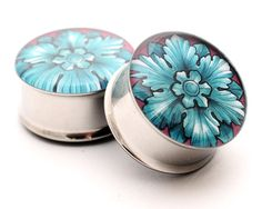 Filigree STYLE 2H Picture Plugs gauges - 8g, 6g, 4g, 2g, 0g, 00g, 7/16, 1/2, 9/16, 5/8, 3/4, 7/8, 1 inch