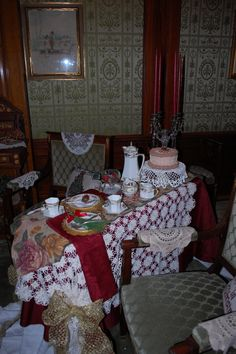 Tea at the Pabst Mansion, in Milwaukee, WI