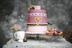 Rustic fall cake by Sugar Cubed Cake Creations. Perfect choice for my upcoming engagement party.