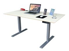 Standing or Sitting Desk.  Electric Desk with UPLIFT legs. Customize TechDesk surface features with display docks, mousepad, etc.