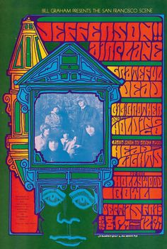 """psychedelic-sixties: """" Jefferson Airplane/Grateful Dead/Big Brother and the Holding Company/Glenn McKay's Head Lights, September 1967 - Hollywood Bowl (Hollywood, CA) Art : Jim Blashfield Rock Posters, Band Posters, Vintage Concert Posters, Vintage Posters, Art Hippie, Psychedelic Music, Psychedelic Posters, Hippie Posters, Grateful Dead Poster"""
