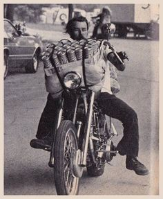 Old School Biker & Beer - Miller Tall Boys
