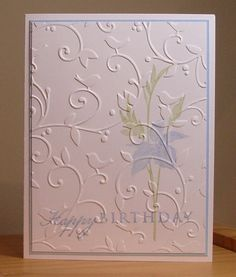 love the subtle stamping (done first) and the embossing...