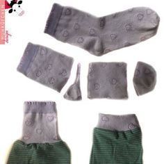 Recycling of socks - sewing - # sewing # . Recycling socks – sewing – Source by Clothes Refashion, Diy Clothing, Sewing Clothes, Sewing Hacks, Sewing Tutorials, Sewing Patterns, Knitting Patterns, Sewing For Kids, Baby Sewing