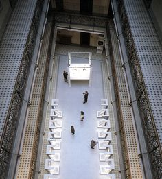 #interior #atrium #lookingdown #austria #floors #balcony #gallery #museum #vitrine #daylight #european #tiles