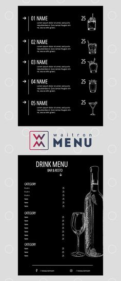 Cocktail menu | Коктейльное меню