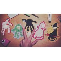 画像 Fall Halloween, Halloween Party, Diy And Crafts, Crafts For Kids, Baby Event, Hand Art, Teaching Tools, Childhood, Kids Rugs