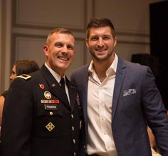 """""""Serving our country is an incredible expression of love! So thankful for Brigadier General John Thomson & all who have served!"""" - Tim"""
