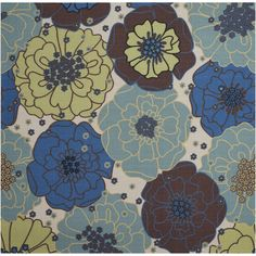"""Nourison Home and Garden Light Blue Rug (7'9 Square) (7'9"""" x 7'9""""), Size 8' x 8' (Polyester, Floral)"""