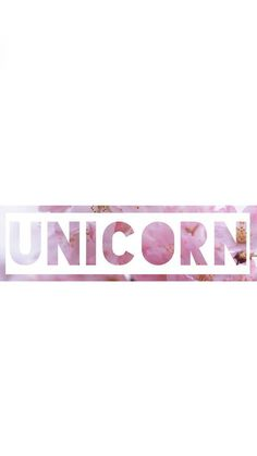 Pink Flower 'UNICORN' Wallpaper ♡♥♡♥♡♥