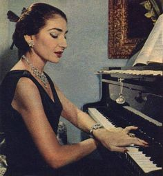 Maria Callas playing the piano- On top of being one of the greatest sopranos in history, Callas was also a talented pianist.